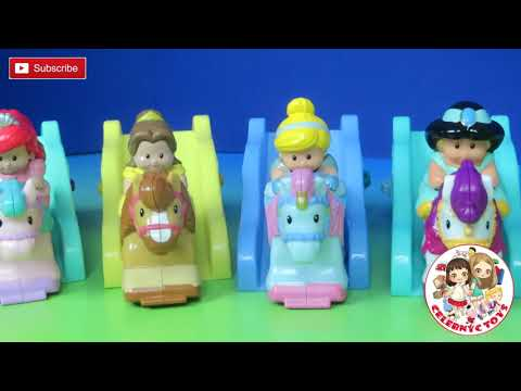 Little People DISNEY PRINCESS Klip Klop Princess Pack Jasmine Belle Cinderella Belle Ariel Horse