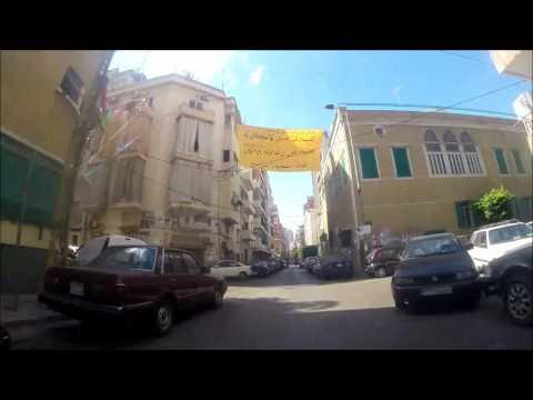From Beirut Zarif to Sami el Solh area on Bike