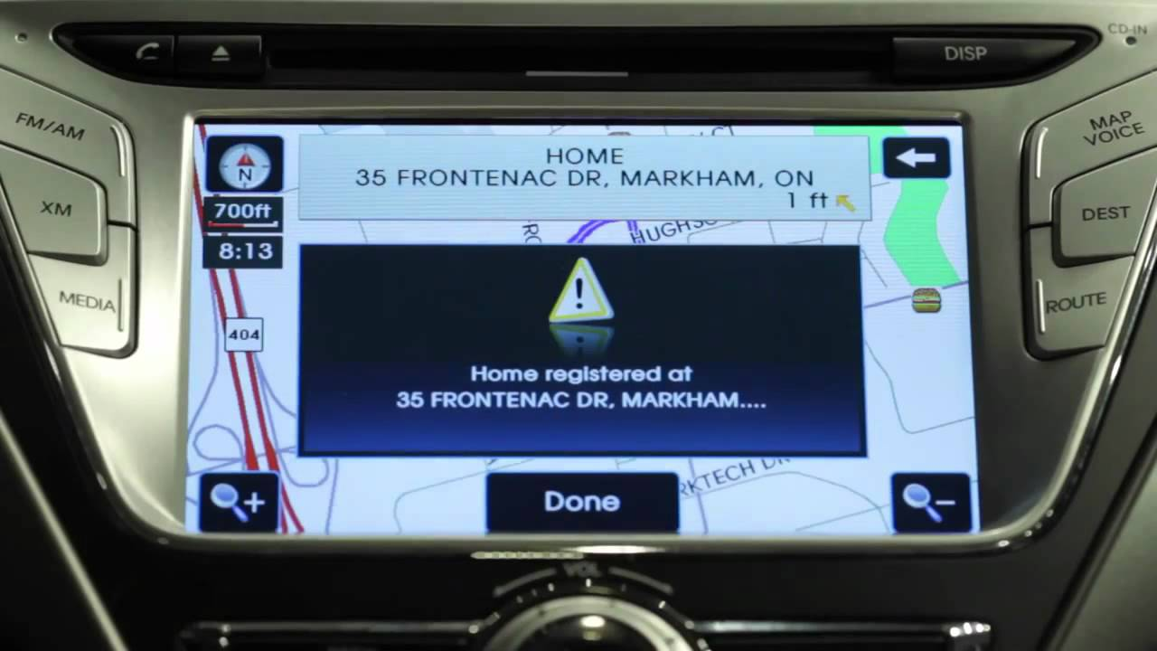 How To Setup Hyundai Gps Navigation System Youtube