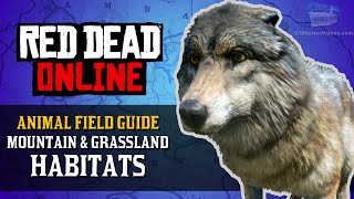 Red Dead Online - Mountain & Grassland Habitats Animal Locations Guide [Naturalist Role]