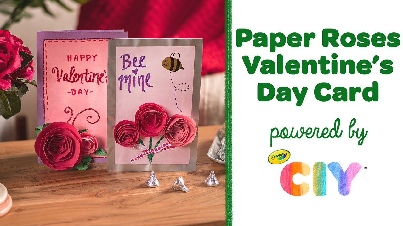 paper rose card making diy valentine's day card