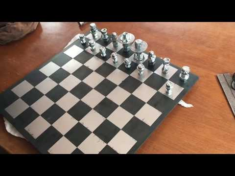 the nuts and bolts diy chess set