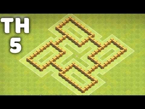 Town Hall 5 Farming Base + Trophy Base⏺  Clash Of Clans (CoC TH5)