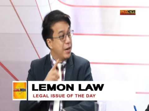 LEGAL MINDS:  LEMON LAW