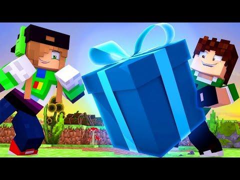 Minecraft Lendário #15: O QUE SERÁ QUE TEM DENTRO DESSE PRESENTE ?!