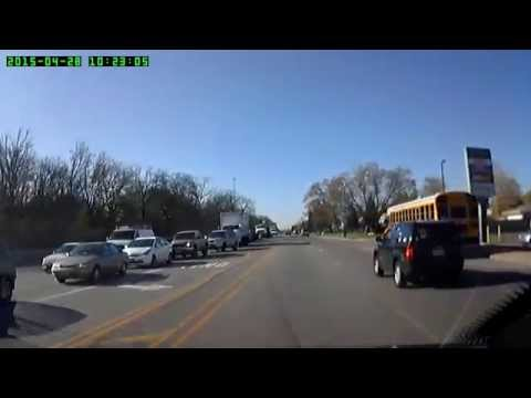 RECKLESS JEEP DRIVER  ILLINOIS PLATE P572820 PART 1