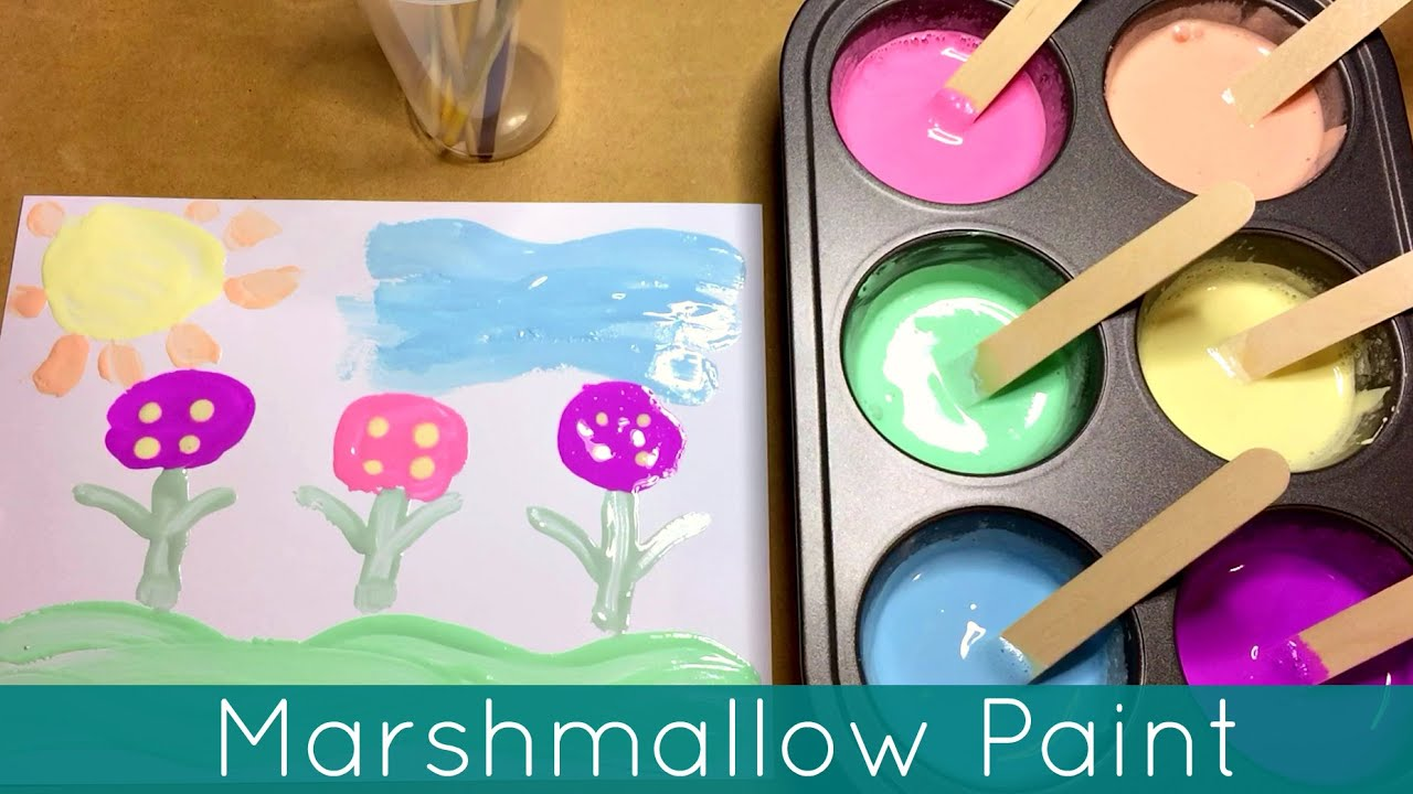 Marshmallow Paint Art Center Activity For Preschool And Kindergarten