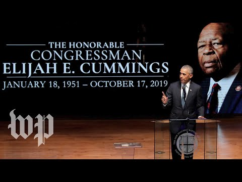 Watch Live: Obama, Clintons And More Eulogize Rep. Elijah Cummings At Funeral In Baltimore
