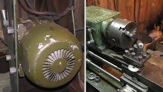 Замена двигателя на токарном станке ТВШ-2 | Сгорел двигатель