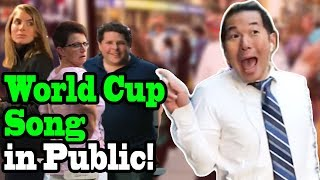 "NICKY JAM, WILL SMITH, Era Istrefi - ""Live it Up"" (2018 World Cup Song) - SINGING IN PUBLIC!!"