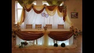 Украшение зала на свадьбу Европейский декор, оформление свадебного зала