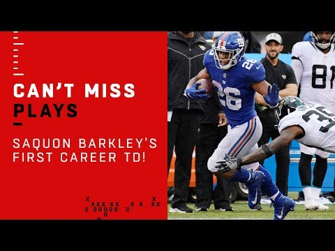 Saquon Barkley Scores 1st Career TD on 68-Yard Run 🔥🔥🔥