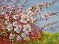 Мастер класс Гуашь Цветы на ветках