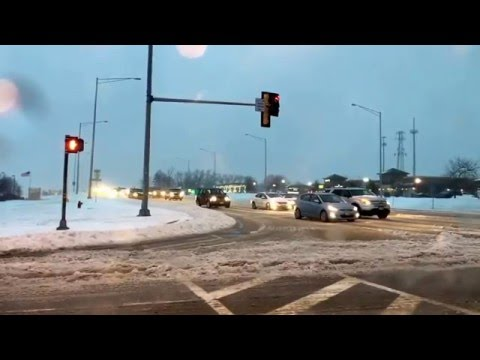RAW: Freezing rain and sleet hits Chicago roadways