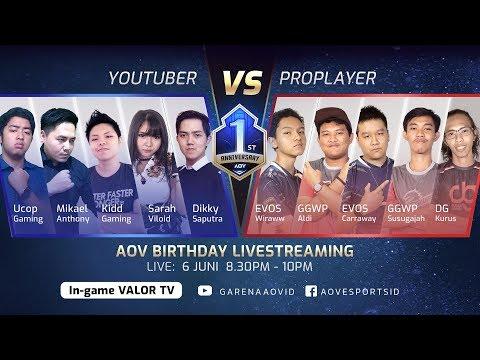 Pro Player VS Youtuber - Garena AOV (Arena Of Valor)