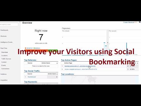 Improve website visitors using Stumbleupon Social Bookmarking