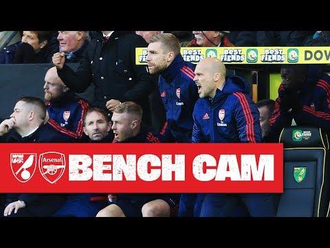BENCH CAM | Norwich City 2-2 Arsenal | Premier League Highlights