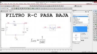OrCAD PSpice 16.6.Filtro RC pasa baja. BODE. Sistema primer orden.