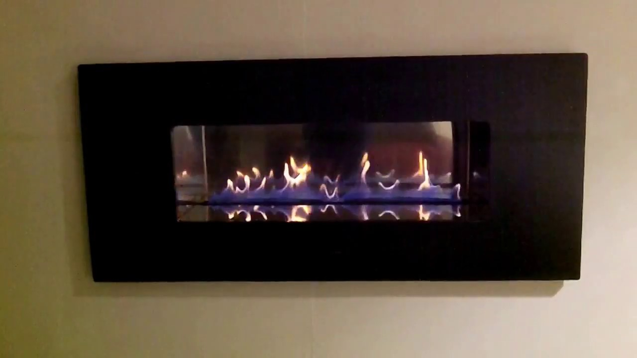 cvo fire ribbon fireplace with black granite fascia youtube