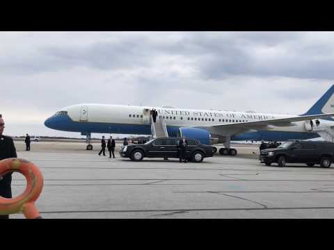 President Donald Trump Lands At Akron-Canton Airport