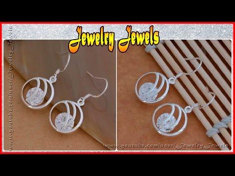 Элитная Ювелирная Бижутерия: модные серебряные серьги с камнями (ССИ075)