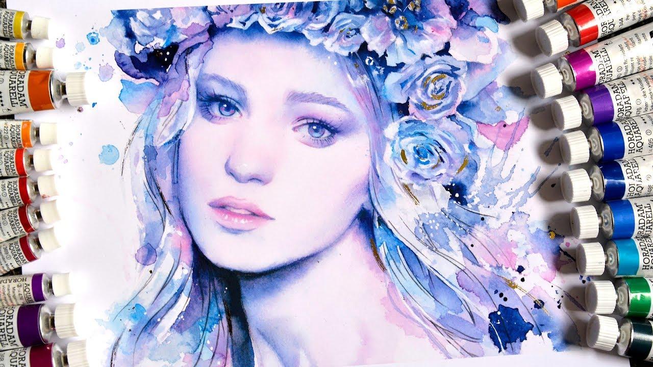 【WATERCOLOR PORTRAIT】Ice Princess