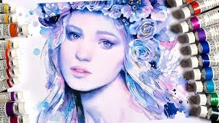 【WATERCOLOR PORTRAIT】Ice Princess