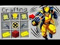 CRAFTING WOLVERINE IN MINECRAFT!