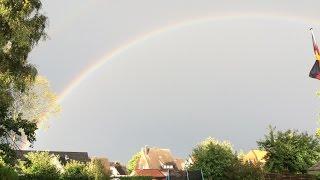Unwetterwarnung - Schwere Gewitter - Regenbogen und mehr