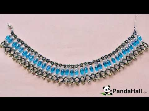 vid o 67 p comment faire un collier chic avec perles en verre nacr youtube. Black Bedroom Furniture Sets. Home Design Ideas
