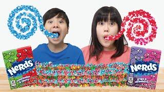 Rope Jelly Nerds Candy Mukbang 로프 젤리 너드 캔디 먹방 KOYA and NEMI