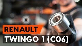 Montage Wiellager vóór links rechts RENAULT TWINGO I (C06_): gratis video