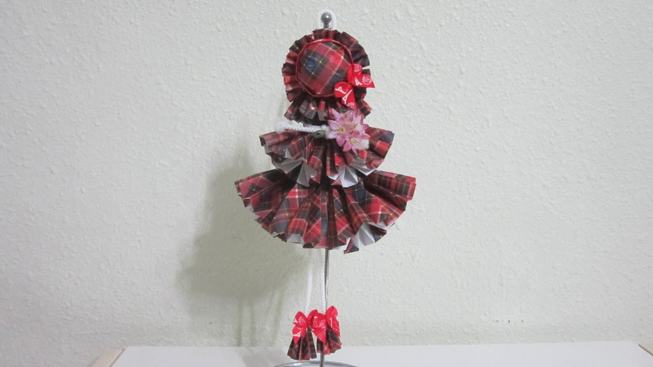 Tutorial How To Make A Wall Hanging 3d Paper Doll Youtube