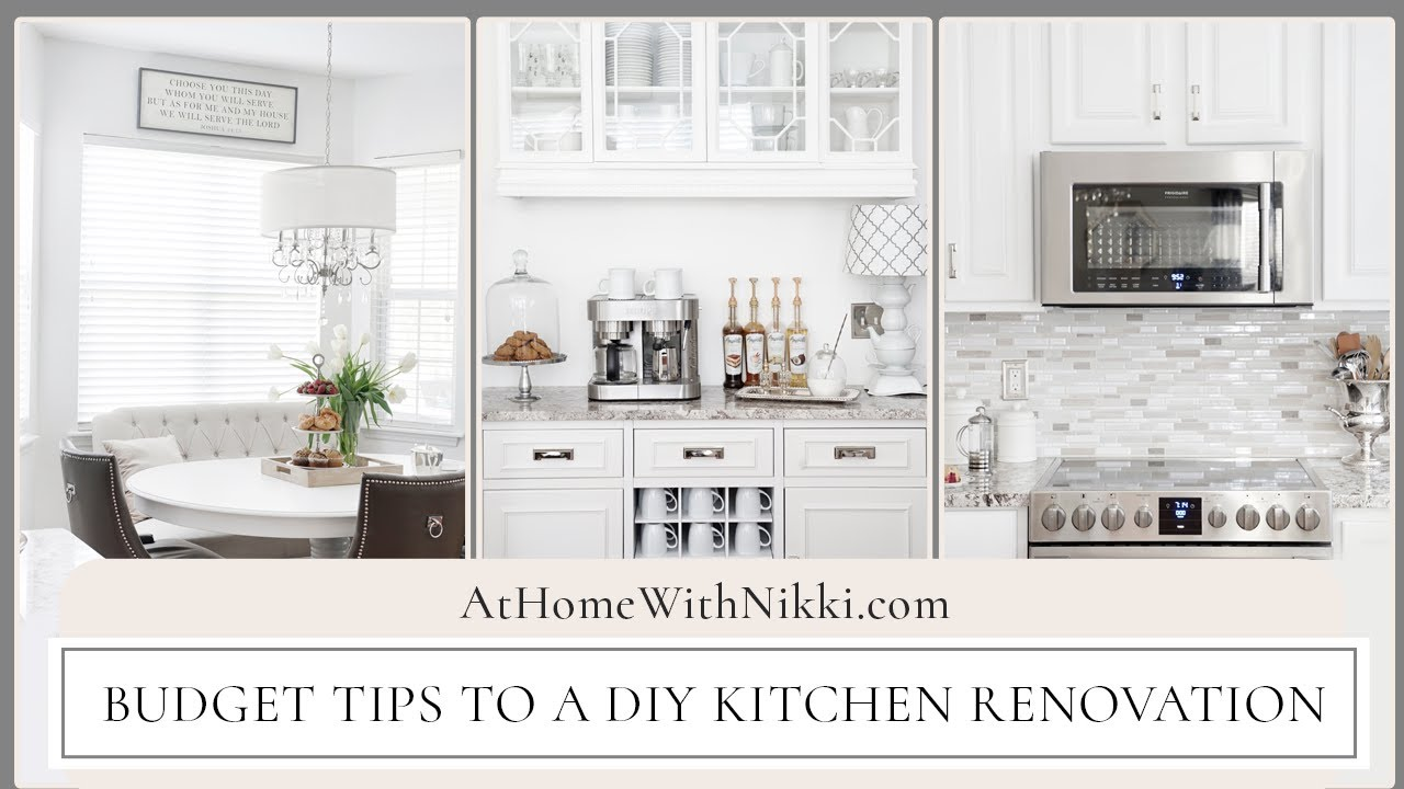 Kitchen Renovation Details Budget Tips To A Diy Kitchen Renovation Youtube
