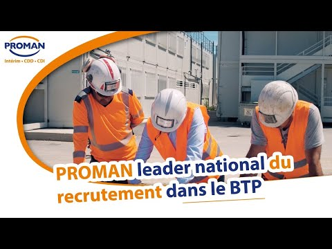 Leader national du recrutement dans le #BTP  PROMAN