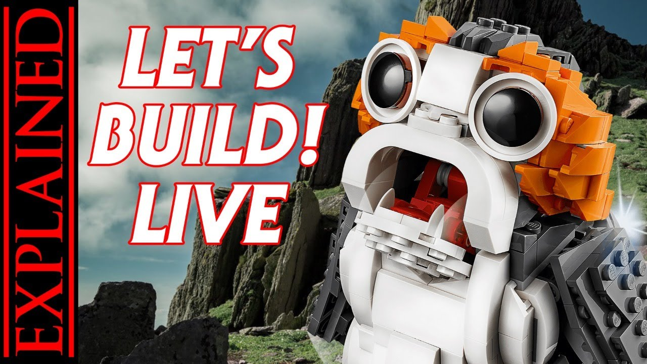 Let's Build a LEGO Porg LIVE!