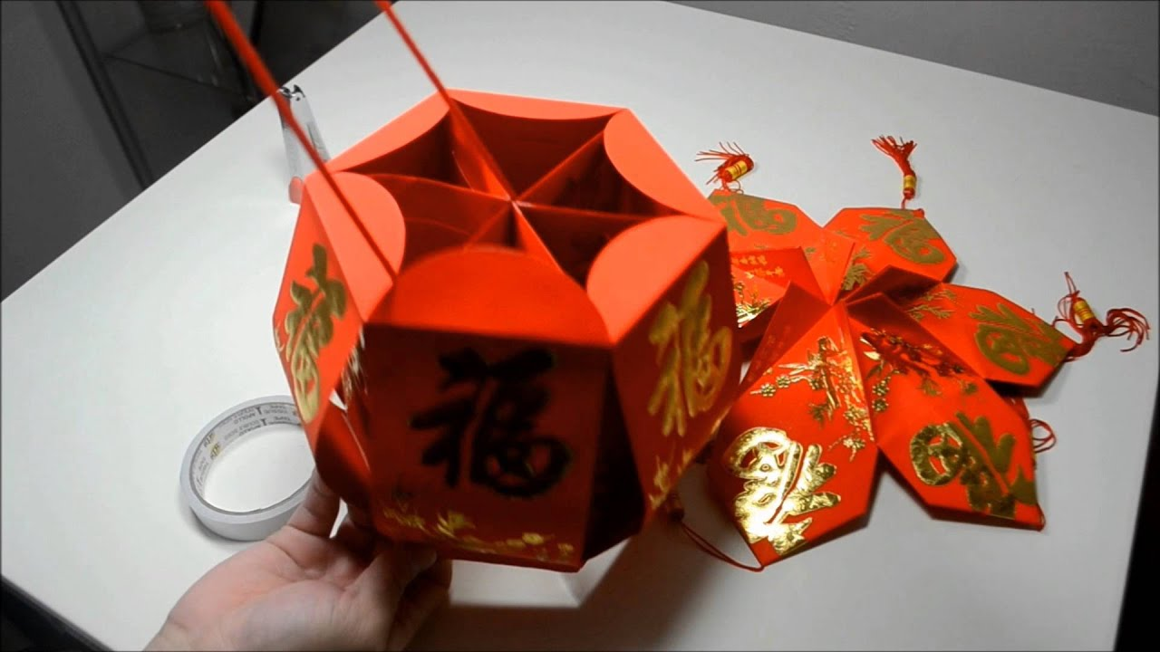 D I Y Chinese New Year Red Envelope Lantern Demonstration