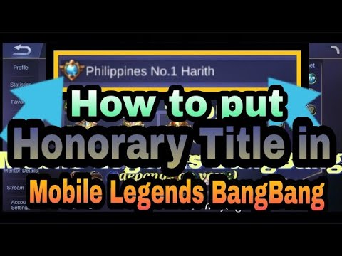 How to put honorary title in Mobile Legends BangBang