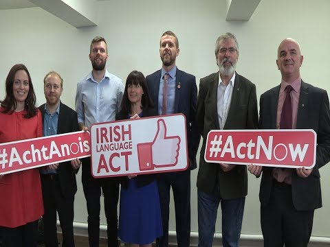 Gerry Adams backs Acht at Conradh na Gaeilge event in Belfast