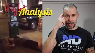 Fight Analysis - Bouncer K.O Kid outside Night Club with Nick Drossos