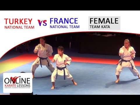 FINAL Female Kata teams Turkey vs France - Karate1 Premier League Dutch Open 2016
