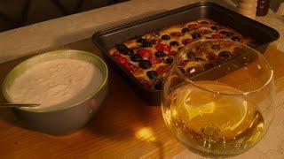 Фокачча + садзыки и глоток белого вина