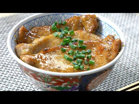 garlic-butter-pork-bowl-ガーリックバター豚丼【tokyo-sushi-mt-fuji-raphael-cooking-4k-ラファエル】