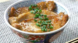 Garlic Butter Pork Bowl ガーリックバター豚丼【Tokyo Sushi Mt Fuji Raphael cooking 4K ラファエル】