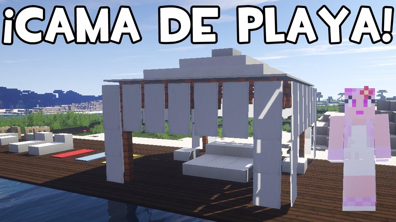 C mo hacer una cama de playa en minecraft youtube for Como construir una piscina