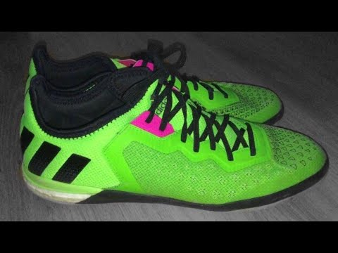 235f70bbee6 Adidas ACE 16.1 CT Boost Indoor Solar Green 260 unboxing- freeskillerz