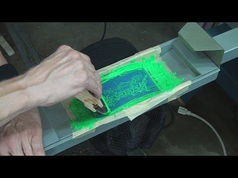 Screen Printing  How To Print Foam Baseball Trucker Caps   Hats ... 00391e0aeb7
