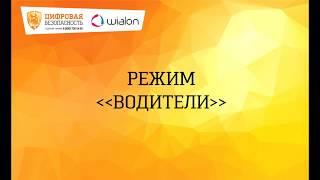 Обучение пользователей Wialon. Водители