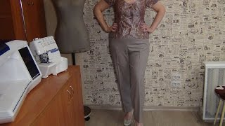 Как сшить брюки женские с цельнокроеным поясом(В этом видео мастер классе по шитью показано продолжение пошива женских брюк после обработки карманов...., 2014-08-12T06:26:02.000Z)