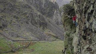 Nick Bullock climbs King Wad (E5) on BMC International Meet